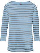 Shirt met boothals en 3/4 mouwen Van Bogner multicolour