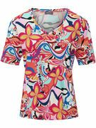 Shirt met V-hals Van Basler multicolour