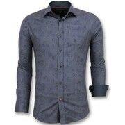Overhemd Lange Mouw Gentile Bellini  Bloemen Blouse Mannen - Italiaanse Overhemden Heren - 3005