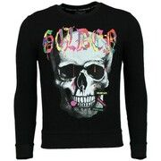 Sweater Golden Gate  Trui Heren - Doodskop Sweater Mannen - Golden Skull