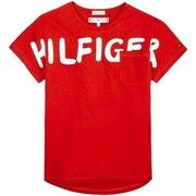 T-shirt Korte Mouw Tommy Hilfiger  BOLD TEXT GROWN ON S/S TEE
