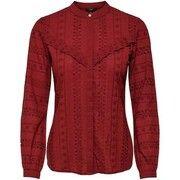 ONLY Geborduurd Overhemd Met Lange Mouwen Dames Rood