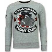 Sweater Local Fanatic  Fight Club Trui - Bulldog  Heren Sweater - Truien Mannen