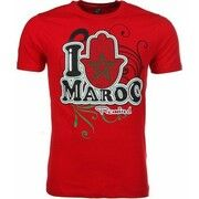 T-shirt Korte Mouw Mascherano  T-shirt I Love Maroc