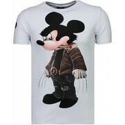 T-shirt Korte Mouw Local Fanatic  Bad Mouse - Rhinestone T-shirt