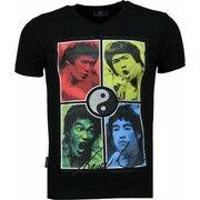 T-shirt Korte Mouw Local Fanatic  Bruce Lee Ying Yang - T-shirt