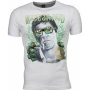 T-shirt Korte Mouw Mascherano  T-shirt - Scarface Made To Get Paid Print