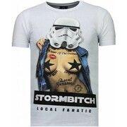 T-shirt Korte Mouw Local Fanatic  Stormbitch - Rhinestone T-shirt