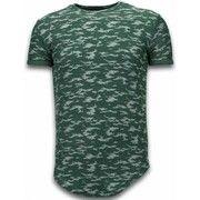 T-shirt Korte Mouw John H  Fashionable Camouflage T-shirt - Long Fit Shirt Army Pattern