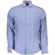 Overhemd Lange Mouw Gant  1601.300447 Shirt Long Sleeves Men blue 436