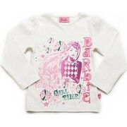 Trui Barbie  2343 T-shirt long sleeves Girls white 20