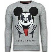 Sweater Local Fanatic  Kiss My Mickey - Rhinestone Sweater