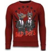 T-Shirt Lange Mouw Local Fanatic  Bad Boys - Rhinestone Sweater