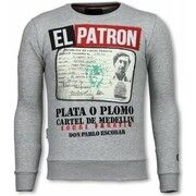 Sweater Local Fanatic  Narcos Billionaire - Rhinestone Sweater