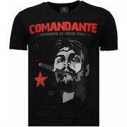 T-shirt Korte Mouw Local Fanatic  Che Guevara Comandante - Rhinestone T-shirt