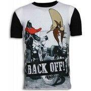 T-shirt Korte Mouw Local Fanatic  Back Off - Digital Rhinestone T-shirt