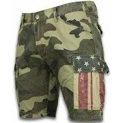 Korte Broek Bread   Buttons  Korte Broeken Heren - Slim Fit Camouflage Shorts