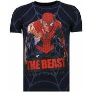 T-shirt Korte Mouw Local Fanatic  The Beast Spider - Rhinestone T-shirt