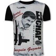 T-shirt Korte Mouw Local Fanatic  El Chapo - Digital Rhinestone T-shirt