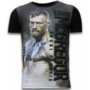 T-shirt Korte Mouw Local Fanatic  Conor McGregor Fighter - Digital Rhinestone T-shirt