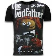 The Godfather Dog - Digital Rhinestone T-shirt - Zwart