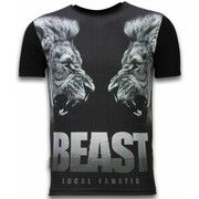 T-shirt Korte Mouw Local Fanatic  Beast - Digital Rhinestone T-shirt