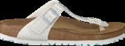 Witte Birkenstock Slippers GIZEH MAGIC SNAKE