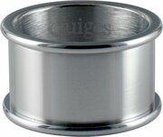 Quiges Stapelring Ring - Basisring  - Dames - RVS zilver - Maat 17 - Hoogte 10mm