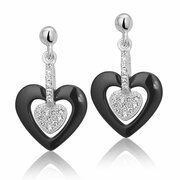 Montebello, zilveren hartjes oorbellen, Elez