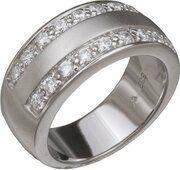 Orphelia Silver 925 Zr-3661;50 Ring Satin Zirconium