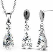 Yolora oorbellen - Swarovski kristal - Zilver - Ketting en hanger - Zirconia - Blushing lady