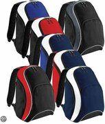 Bagbase Teamwear Backpack, kleur Navy/Bright Royal/White
