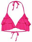 ONLY Ruche Bikini Top Dames Roze