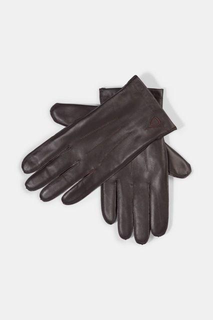 Vingerhandschoenen, donkerbruin